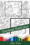 Daydreams Coloring Page #7 Printable Download-Bo and Sayler-Lifestyles Layout (Right) by Aria Eden!