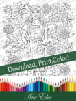 Daydreams Coloring Page #1 Printable Download-Sayler Christy-Candy Striper by Aria Eden!
