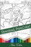 Daydreams Coloring Page #3 Printable Download-Bo and Sayler-First Kiss by Aria Eden!