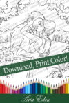 Daydreams Coloring Page #8 Printable Download-Bo and Sayler-A Kiss in the Moonlight by Aria Eden!